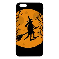 Halloween Witch   Orange Moon Iphone 6 Plus/6s Plus Tpu Case by Valentinaart