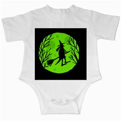 Halloween Witch   Green Moon Infant Creepers by Valentinaart