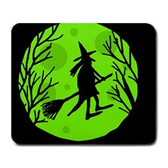 Halloween Witch   Green Moon Large Mousepads by Valentinaart