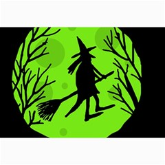 Halloween Witch   Green Moon Collage Prints