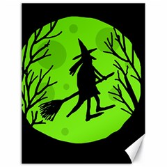 Halloween Witch   Green Moon Canvas 18  X 24   by Valentinaart