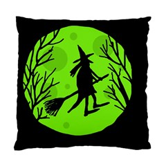 Halloween Witch   Green Moon Standard Cushion Case (one Side) by Valentinaart