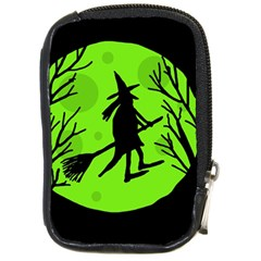 Halloween Witch   Green Moon Compact Camera Cases by Valentinaart