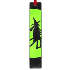 Halloween Witch   Green Moon Large Book Marks by Valentinaart