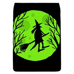 Halloween witch - green moon Flap Covers (L)  by Valentinaart