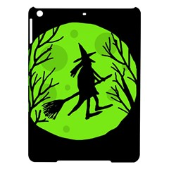 Halloween Witch   Green Moon Ipad Air Hardshell Cases by Valentinaart