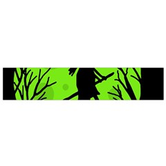 Halloween Witch   Green Moon Flano Scarf (small) by Valentinaart