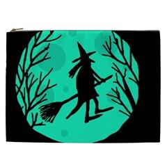 Halloween Witch   Cyan Moon Cosmetic Bag (xxl)  by Valentinaart