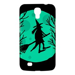 Halloween Witch   Cyan Moon Samsung Galaxy Mega 6 3  I9200 Hardshell Case by Valentinaart