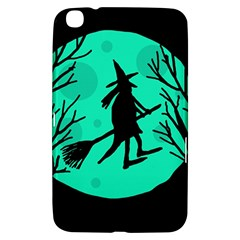 Halloween Witch   Cyan Moon Samsung Galaxy Tab 3 (8 ) T3100 Hardshell Case  by Valentinaart