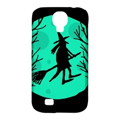 Halloween Witch   Cyan Moon Samsung Galaxy S4 Classic Hardshell Case (pc+silicone) by Valentinaart