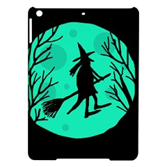 Halloween Witch   Cyan Moon Ipad Air Hardshell Cases by Valentinaart
