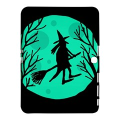 Halloween witch - cyan moon Samsung Galaxy Tab 4 (10.1 ) Hardshell Case  by Valentinaart