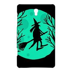 Halloween Witch   Cyan Moon Samsung Galaxy Tab S (8 4 ) Hardshell Case  by Valentinaart