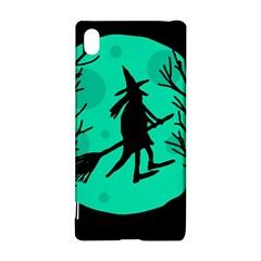Halloween witch - cyan moon Sony Xperia Z3+ by Valentinaart