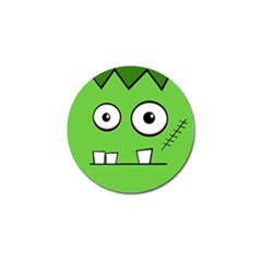 Halloween Frankenstein   Green Golf Ball Marker (10 Pack) by Valentinaart