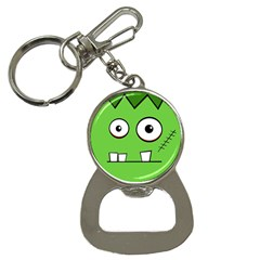 Halloween Frankenstein   Green Bottle Opener Key Chains by Valentinaart