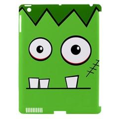 Halloween Frankenstein   Green Apple Ipad 3/4 Hardshell Case (compatible With Smart Cover) by Valentinaart