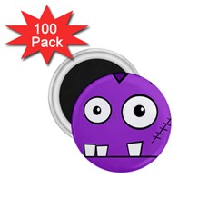 Halloween Frankenstein   Purple 1 75  Magnets (100 Pack)  by Valentinaart