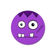 Halloween Frankenstein   Purple Magnet 3  (round) by Valentinaart