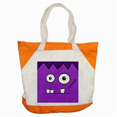 Halloween Frankenstein   Purple Accent Tote Bag by Valentinaart