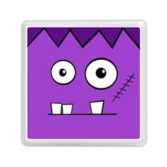 Halloween Frankenstein   Purple Memory Card Reader (square)  by Valentinaart