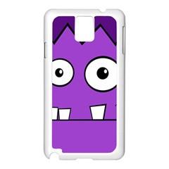 Halloween Frankenstein   Purple Samsung Galaxy Note 3 N9005 Case (white) by Valentinaart