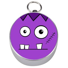 Halloween Frankenstein   Purple Silver Compasses by Valentinaart