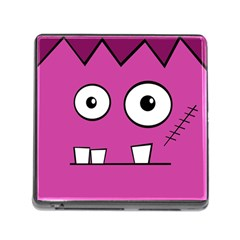 Halloween Frankenstein   Pink Memory Card Reader (square) by Valentinaart