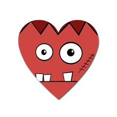 Halloween Frankenstein   Red Heart Magnet by Valentinaart