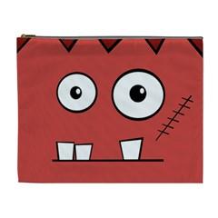 Halloween Frankenstein   Red Cosmetic Bag (xl) by Valentinaart