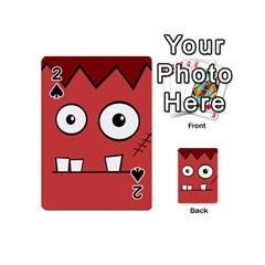 Halloween Frankenstein   Red Playing Cards 54 (mini)  by Valentinaart