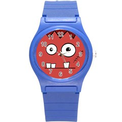 Halloween Frankenstein   Red Round Plastic Sport Watch (s) by Valentinaart