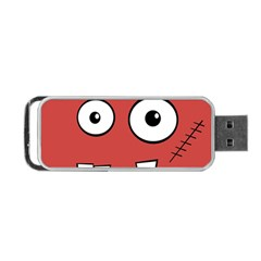 Halloween Frankenstein   Red Portable Usb Flash (one Side) by Valentinaart
