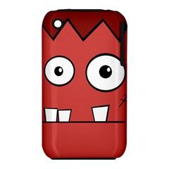 Halloween Frankenstein   Red Apple Iphone 3g/3gs Hardshell Case (pc+silicone) by Valentinaart