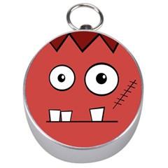 Halloween Frankenstein   Red Silver Compasses by Valentinaart