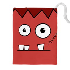 Halloween Frankenstein   Red Drawstring Pouches (xxl) by Valentinaart
