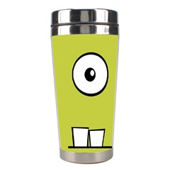 Halloween Frankenstein  Yellow Stainless Steel Travel Tumblers by Valentinaart
