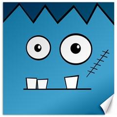 Halloween Frankenstein   Blue Canvas 12  X 12   by Valentinaart