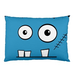 Halloween Frankenstein   Blue Pillow Case by Valentinaart