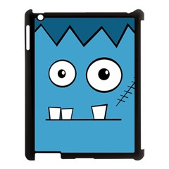 Halloween Frankenstein   Blue Apple Ipad 3/4 Case (black) by Valentinaart