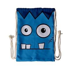 Halloween Frankenstein   Blue Drawstring Bag (small) by Valentinaart