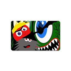 Halloween Monsters Magnet (name Card) by Valentinaart