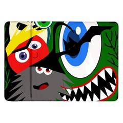 Halloween Monsters Samsung Galaxy Tab 8 9  P7300 Flip Case by Valentinaart