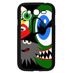 Halloween Monsters Samsung Galaxy Grand Duos I9082 Case (black) by Valentinaart
