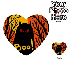 Halloween Monster Multi Purpose Cards (heart)  by Valentinaart