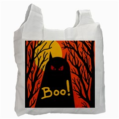 Halloween Monster Recycle Bag (two Side)  by Valentinaart