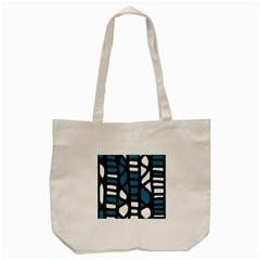 Blue decor Tote Bag (Cream) by Valentinaart