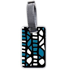 Blue Decor Luggage Tags (two Sides) by Valentinaart