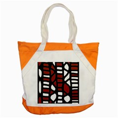 Red Decor Accent Tote Bag by Valentinaart
